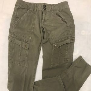 Jolt Army green Skinny Cargo Pants